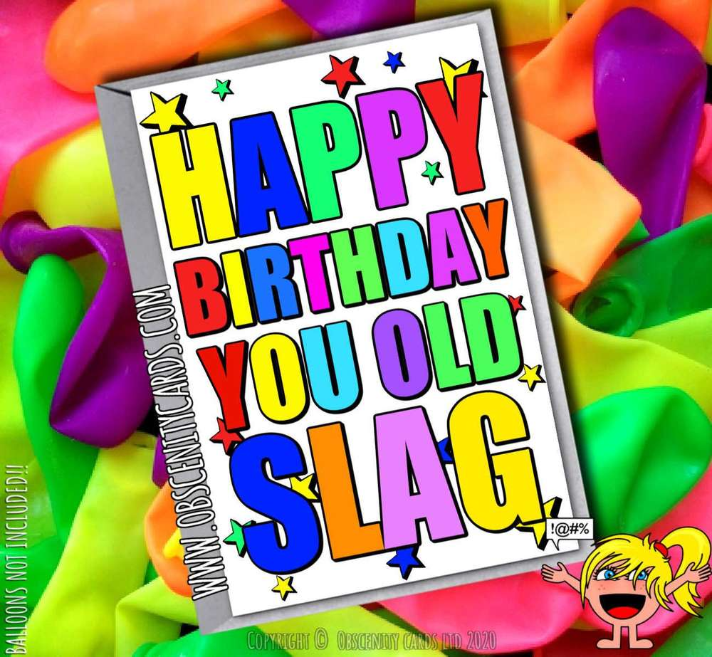 HAPPY BIRTHDAY YOU OLD SLAG FUNNY CARD