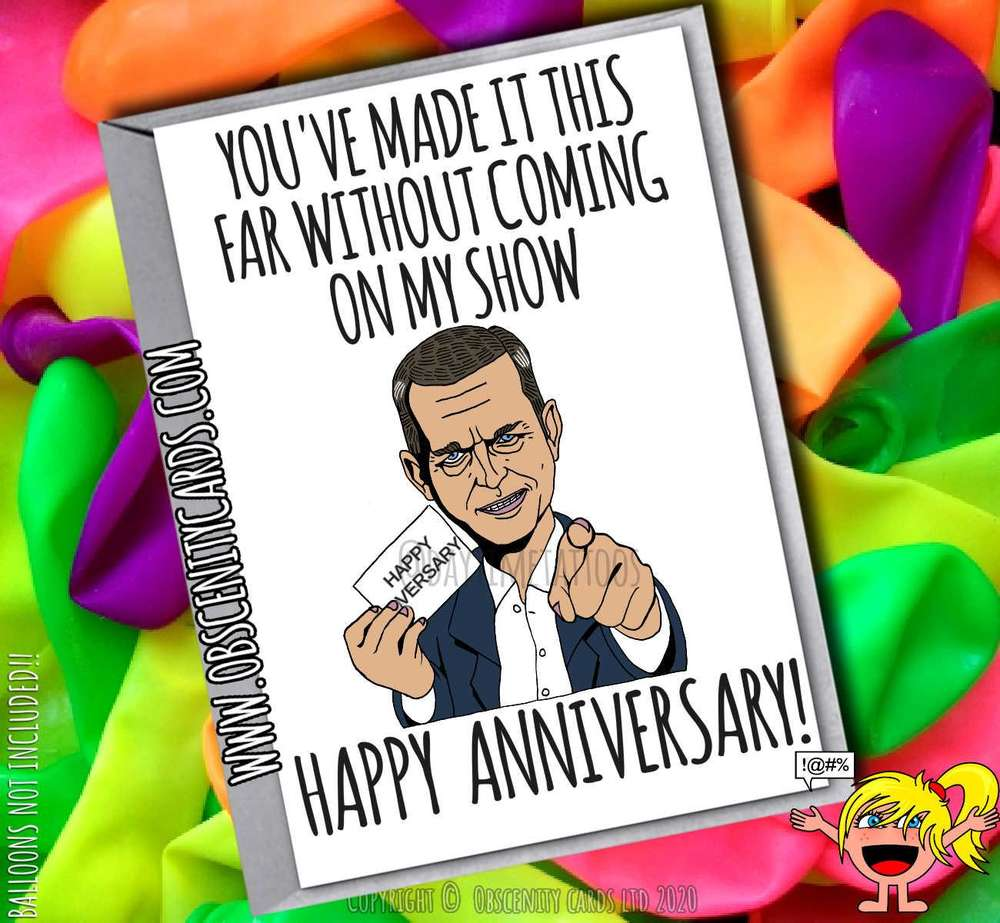 YOU GOT THIS FAR WITHOUT COMING ON MY SHOW ANNIVERSARY JEREMY KYLE CARD
