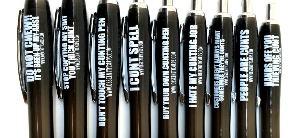 Mixed obscenity pens