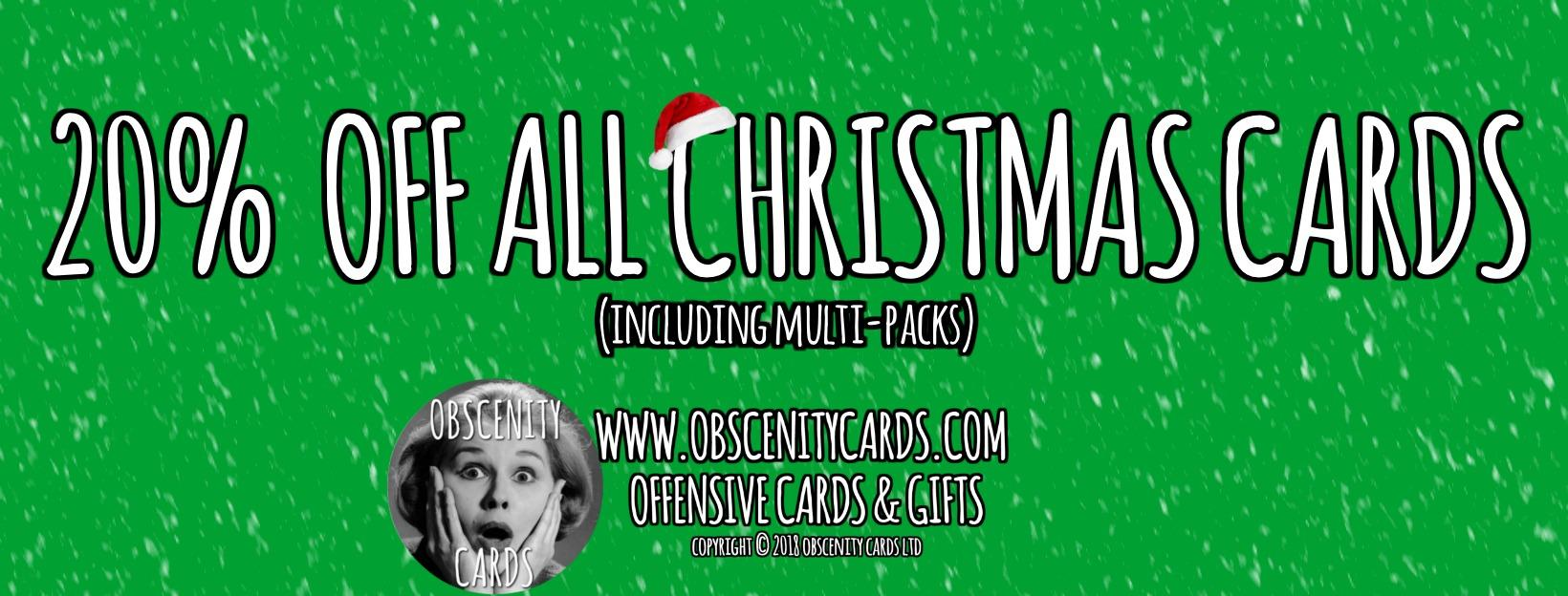 20% OFF ALL CHRISTMAS CARDS