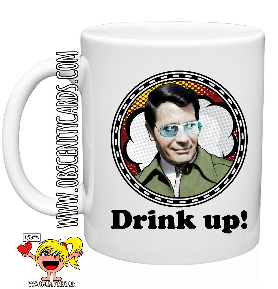 Jim Jones, Drink Up Mug, Cults, Serial Killers,  Dark Humour Mug, Funny Coffee tea cup Mug