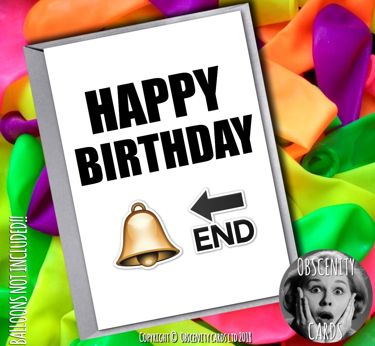 Emoji Cards - Happy Birthday Card Bell End