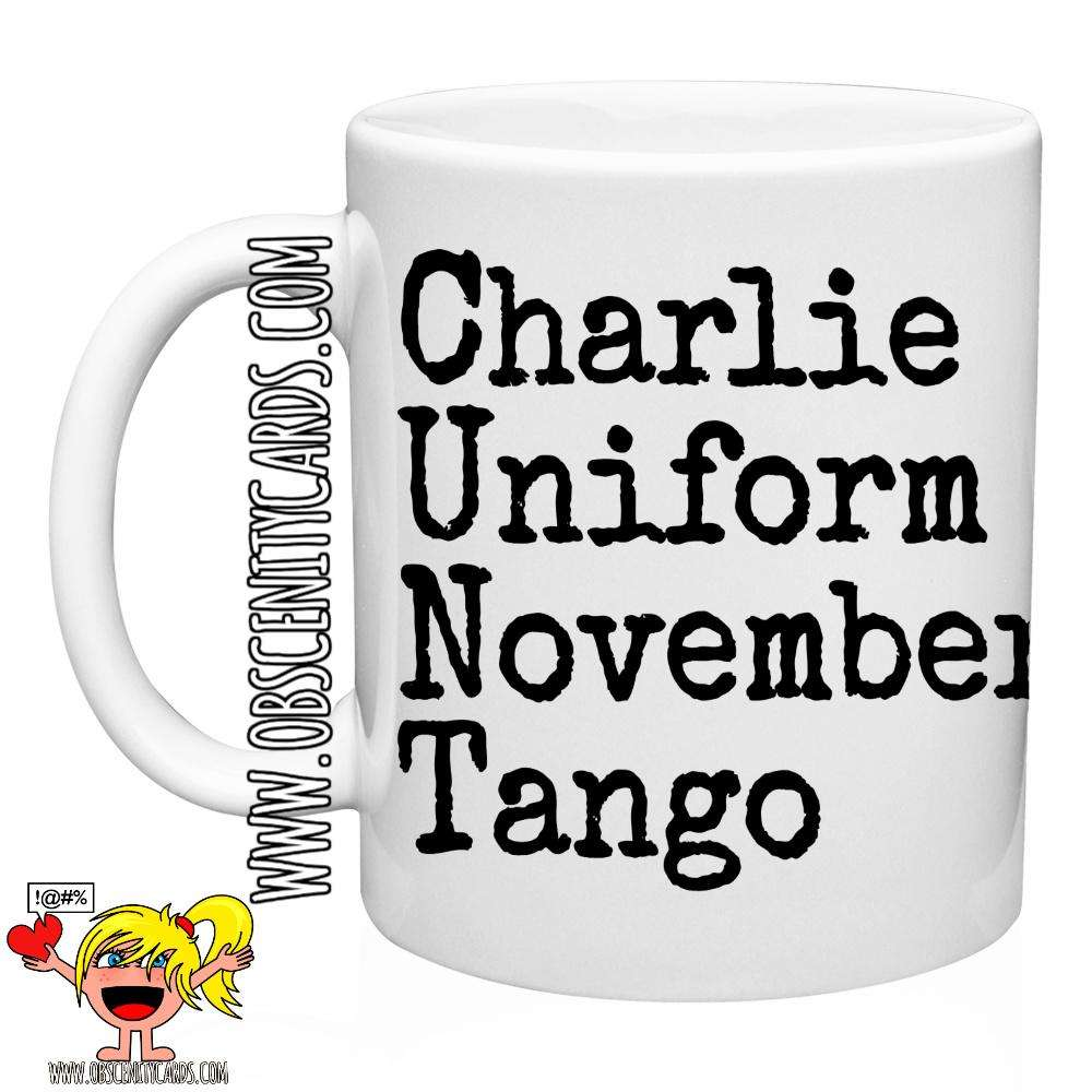 CHARLIE UNIFORM NOVEMBER TANGO MUG / CUP