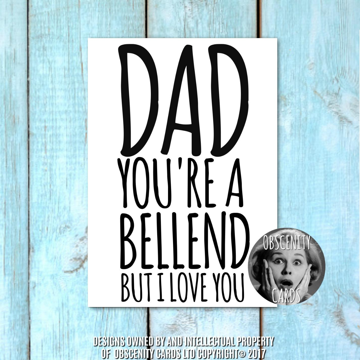 Obscene funny offensive Father's Day cards by Obscenity cards. Obscene Funny Cards, Pens, Party Hats, Key rings, Magnets, Lighters & Loads More!