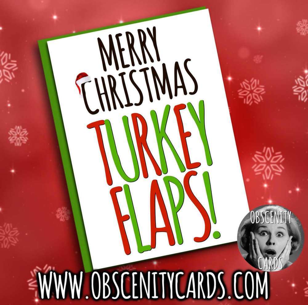 MERRY CHRISTMAS TURKEY FLAPS CARD