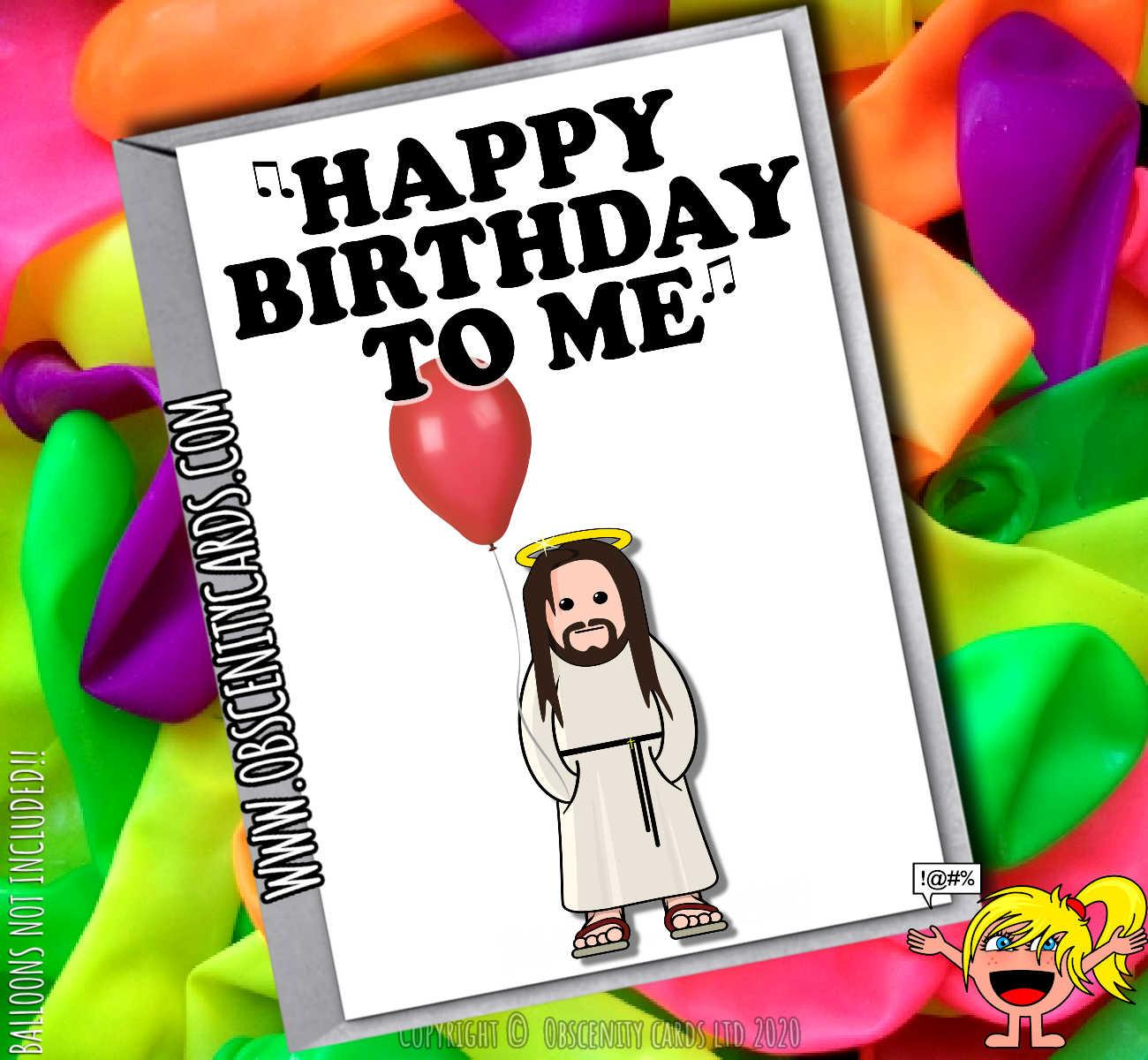 HAPPY BIRTHDAY TO ME FUNNY JESUS CHRISTMAS CARD