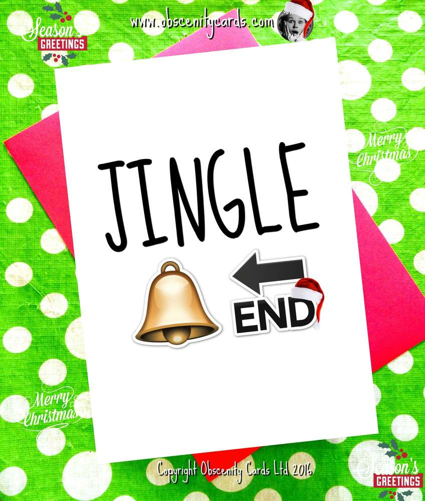 JINGLE BELLEND FUNNY CHRISTMAS CARD