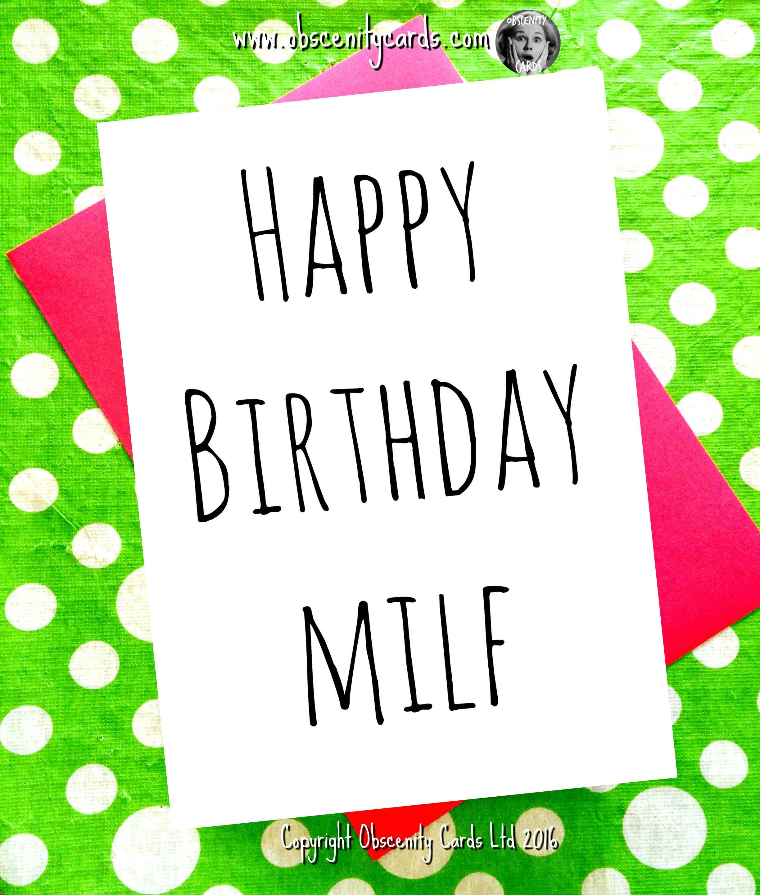 Happy birthday milf