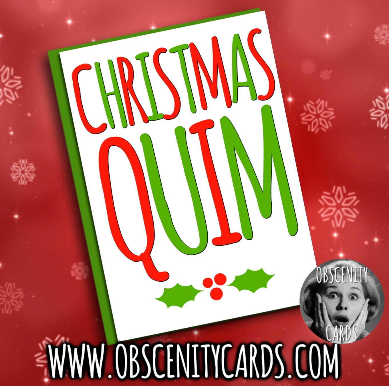 CHRISTMAS QUIM FUNNY CHRISTMAS CARD
