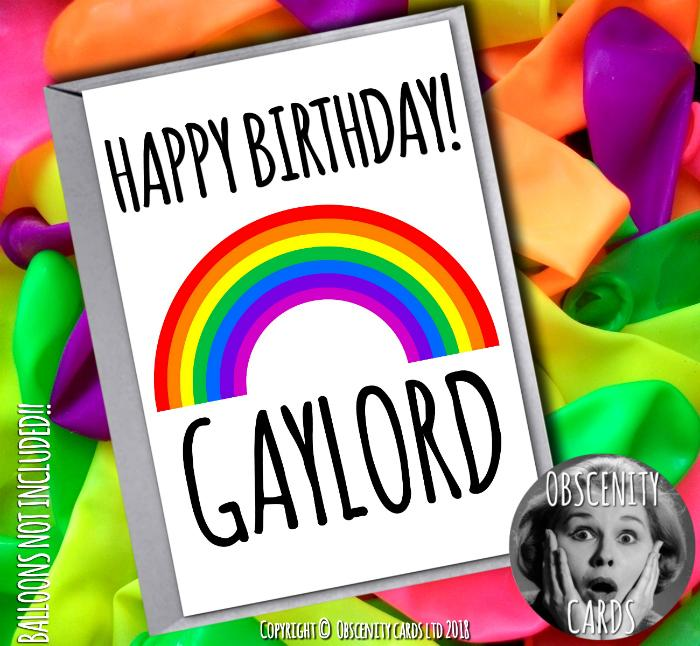 HAPPY BIRTHDAY GAYLORD CARD