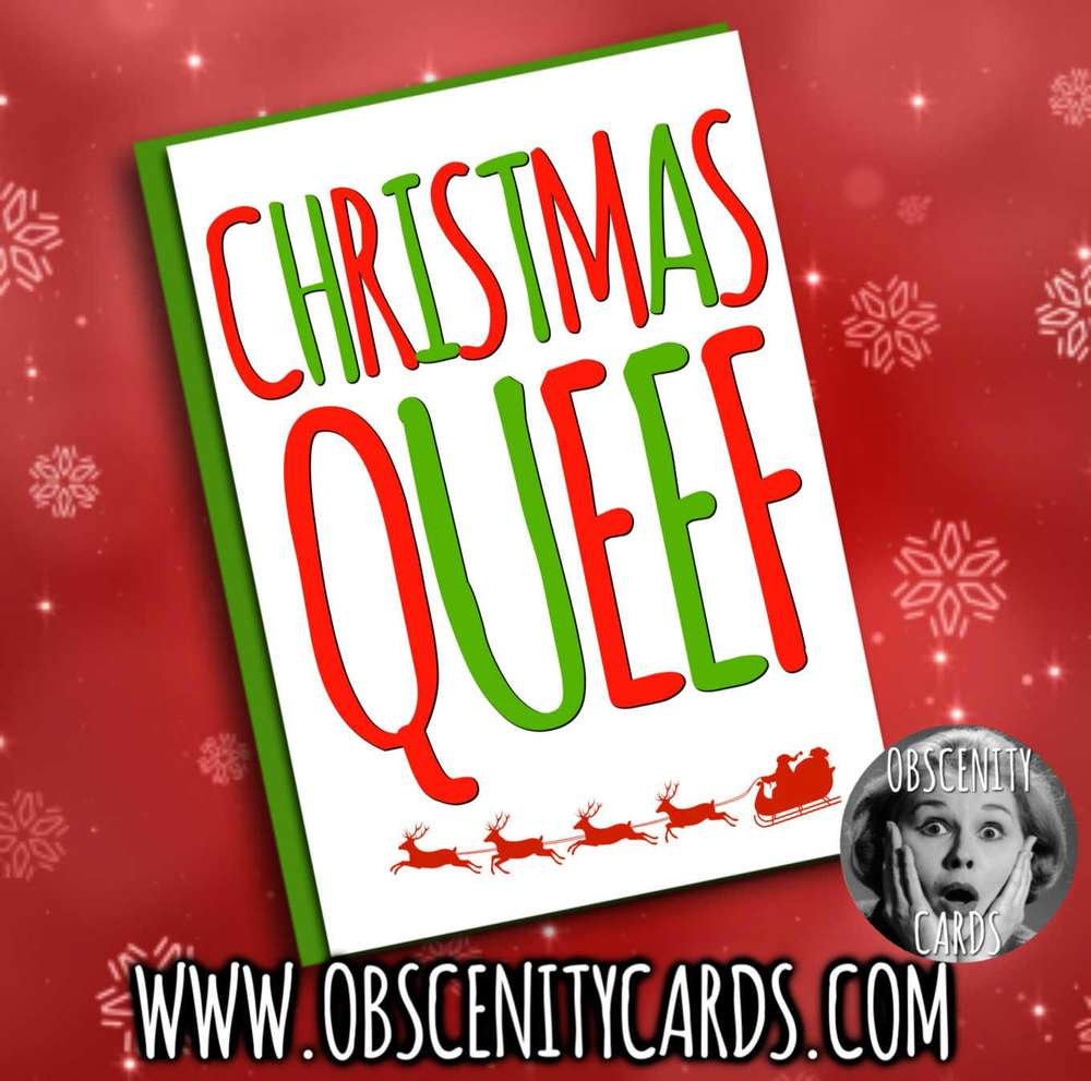 CHRISTMAS QUEEF FUNNY CHRISTMAS CARD
