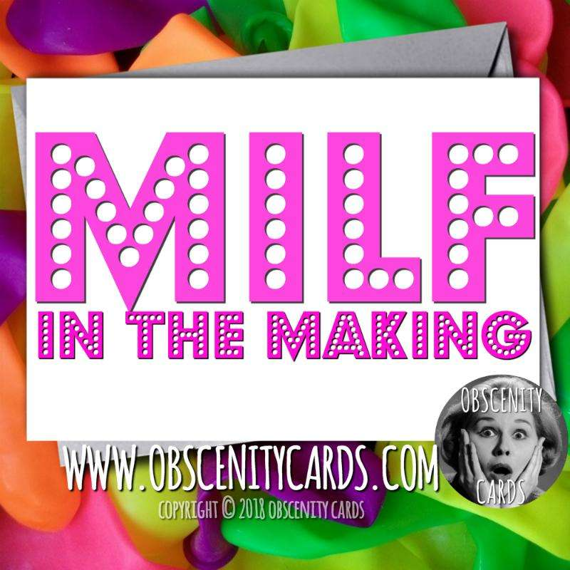 pregnancy milf cards by Obscenity cards. Obscene Funny Cards, Pens, Party Hats, Key rings, Magnets, Lighters & Loads More!