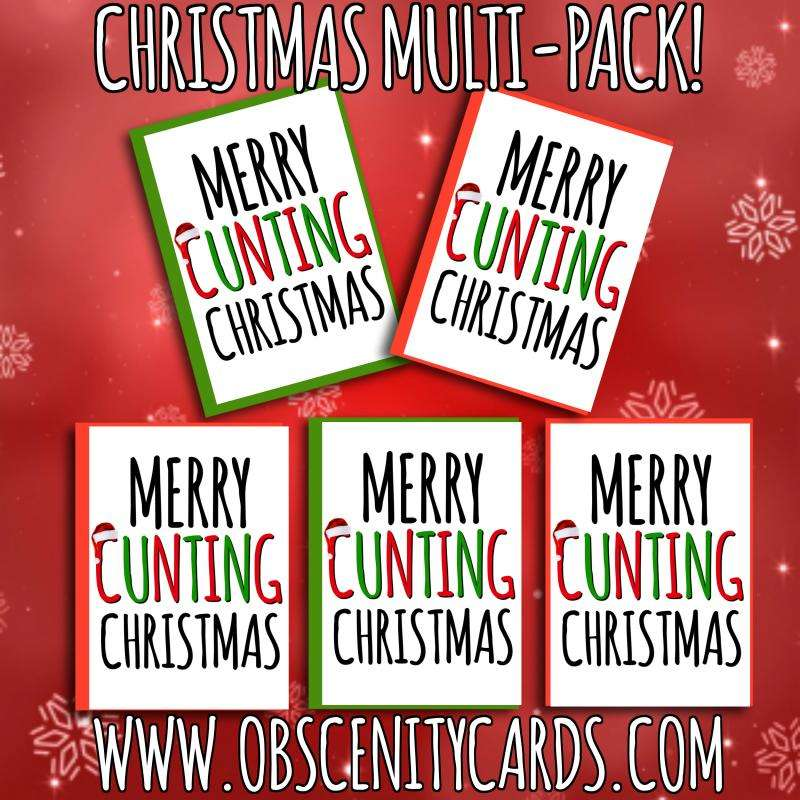 Obscene funny christmas mulit-pack cards by Obscenity cards. Obscene Funny Cards, Pens, Party Hats, Key rings, Magnets, Lighters & Loads More!