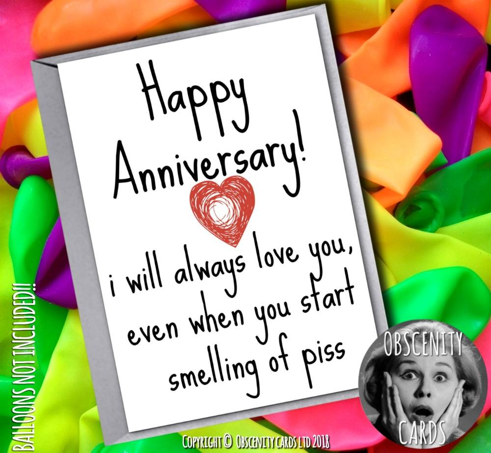 Obscene funny offensive anniversary cards by Obscenity cards. Obscene Funny Cards, Pens, Party Hats, Key rings, Magnets, Lighters & Loads More!