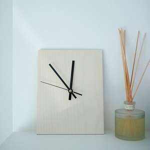 Birch Plywood rectangular Clockkit for pyrography