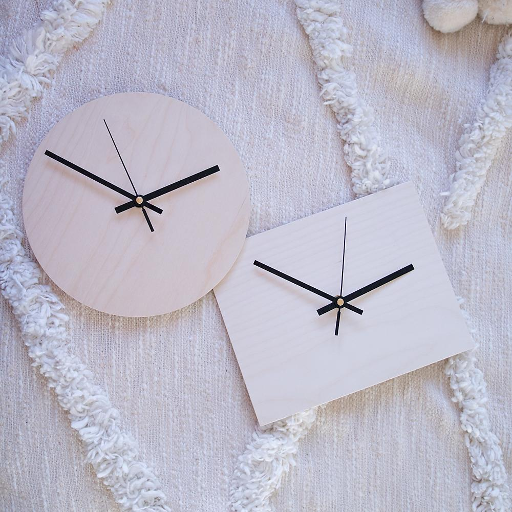 Birch Plywood Clock Blank Kits
