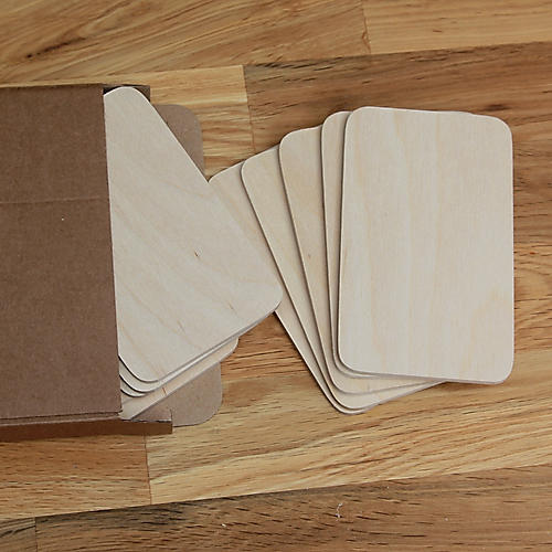 pack of 10 Birch Plywood 5 inch x 3 inch name plates door plaques