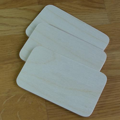 pack of 10 birch plywood 4mm pyrography blanks name plates 5x3 inches