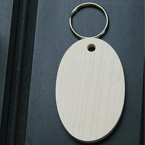 Dalescraft sycamore oval key fob for pyrography