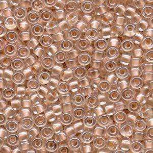 Miyuki Seed Beads 6/0 in Inside Dyed Pearlised Peach