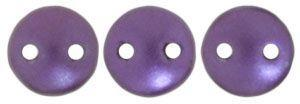 6mm Czech Mates Two Hole Lentil in Purple Velvet Pastel