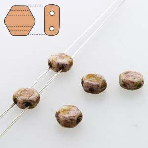 6mm Two Hole HoneyComb Beads in Senegal Purple