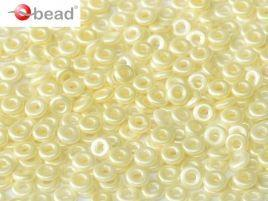 2x4mm O Bead in Pastel Cream
