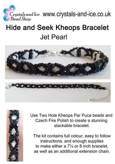 Hide and Seek Kheops Bracelet Kit - Jet Pearl