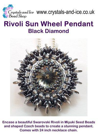 Rivoli Sun Wheel Pendant Kit - Black Diamond
