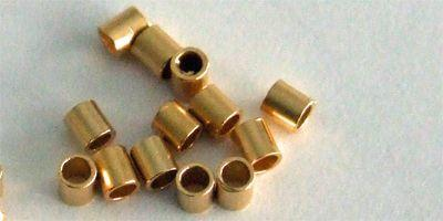 2mm Tube Crimp (x500) in Gold Plate