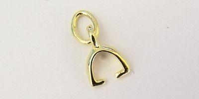 5mm Small Stirrup Bail in Gold Plate