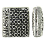 9x10x14mm Book Bead - Silver Plated