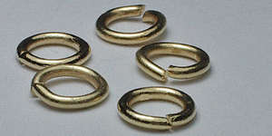 6mm Jump Ring in Gold Plate