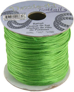 1.5mm Rattail Cord - Grass Green