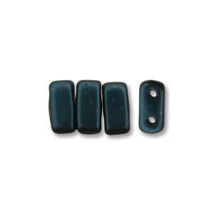 3x6mm Czech Mates Two Hole Brick in Pastel Dark Turquoise