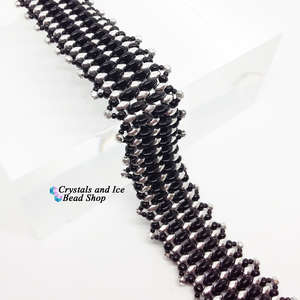 Mini Frillypede Bracelet Kit - Jet and Silver