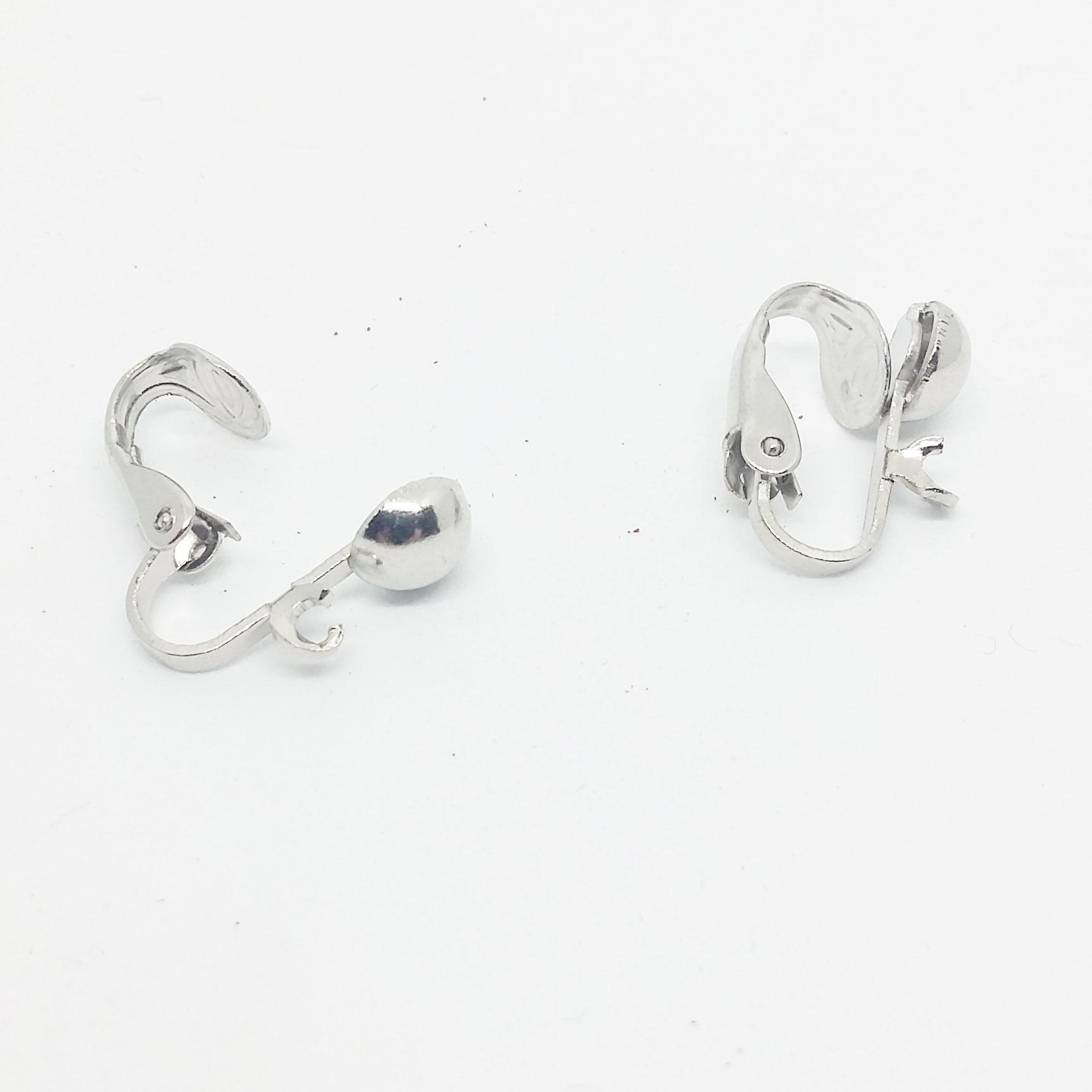 Round Clip On Earring - Silver Plated