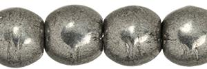 3mm Czech Glass Round Beads  in Saturated Metallic Frost Gray
