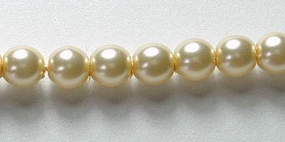 4mm Czech Glass Pearl in Cream