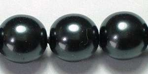 8mm Czech Glass Pearl in Black Pearl