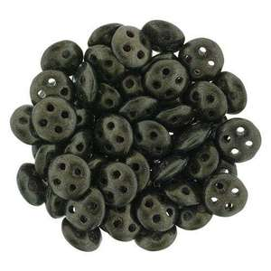 6mm CzechMates QuadraLentil in Metallic Suede Dark Green