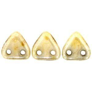 Czech Mates Two Hole 6mm Triangle in Opaque Lustre Picasso