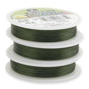 7 Strand Beadalon Stringing Wire 0.018 inch - Green