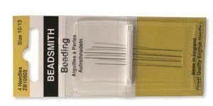 4 High Quality Beading Needles #10/#13