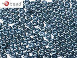 2x4mm O Bead in Pastel Montana Blue