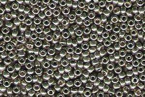 Miyuki Seed Beads 15/0 in Light Smoky Pewter Duracoat Galvanised