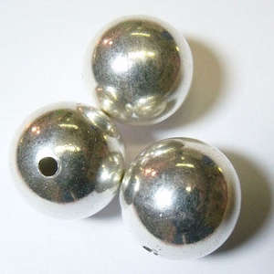 24mm Silver Plated Copper Round