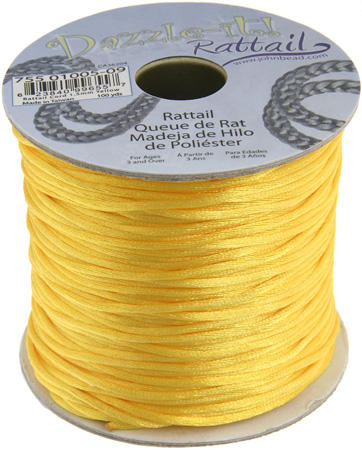 1.5mm Rattail Cord - Yellow