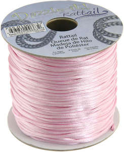 1.5mm Rattail Cord - Light Pink