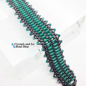 Mini Frillypede Bracelet Kit - Teal and Hematite